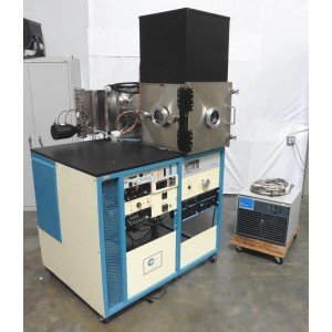 C141596 Cooke Sputtering Vacuum Chamber CTI On-Board 10 Cryopump 8200 Compressor