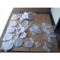 L91511 Lot37 Perkin Elmer Sputtering Machine Chamber Shielding Parts *NEW*